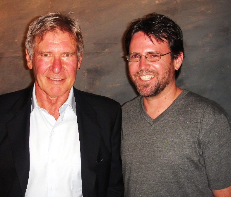 Dan and Harrison Ford during the 2011 EAA AirVenture in Oshkosh, Wisconsin.