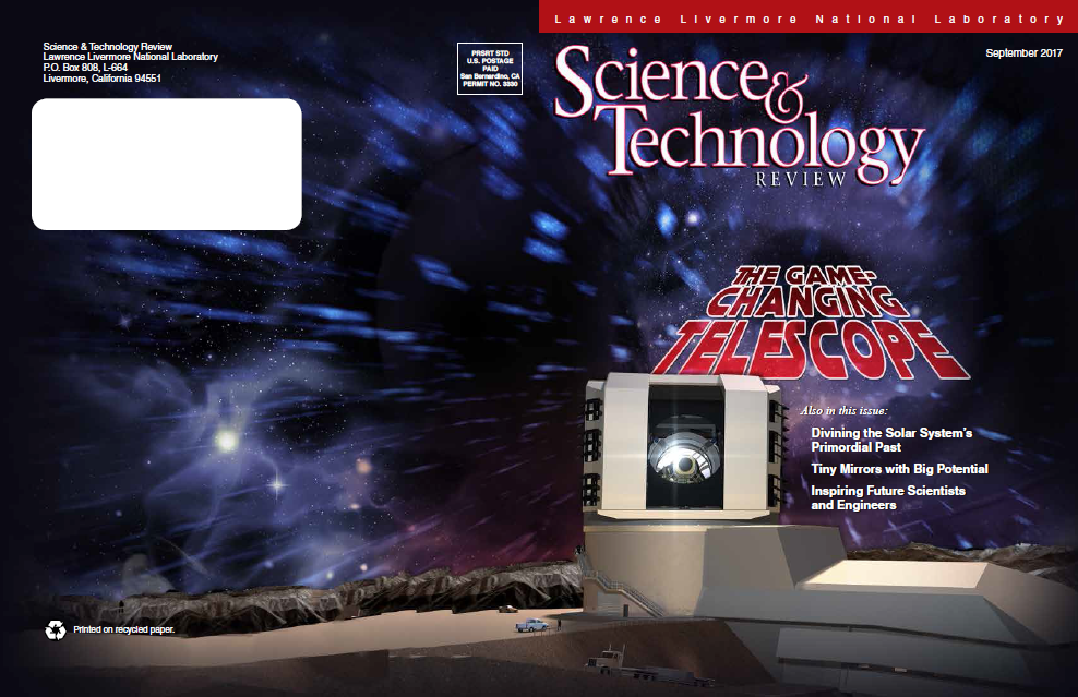 Revolutionary Large Synoptic Survey Telescope in Chile, appearing in Science & Technology Review.